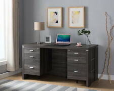 171924 Office Desk with Drawers and Desk Pad