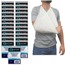 Qualiacre Cotton Calico Multi Pack, 25 x Triangular Arm Sling Support Bandages
