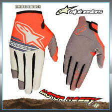 GUANTO CROSS ENDURO ALPINESTARS RACER BRAAP BLACKJACK GRAY RED FLUO TAGLIA S