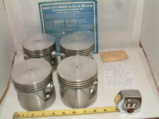 "NOS 1928 Ford 3 7/8"" bore 0.060"" OS SET OF 4 ALUMINUM PISTONS, & more..."