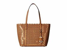 Michael Kors Desi Perforated Saffiano Leather Small Travel Tote (Acorn)