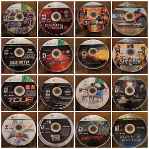 Assorted TESTED Xbox 360 Games -- Resurfaced. Many work on Xbox One.