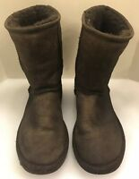 Ugg Australia Women 5 M Classic Short 5825 Brown Suede Leather Shearling Boots
