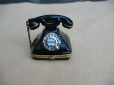 Pre-Owned Rochard Sc Limoges Trinket Box Vintage Rotary Telephone 2.25""
