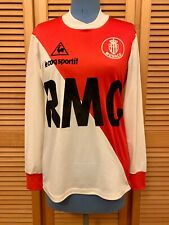 AS Monaco 1982-1984 home football shirt jersey maillot camiseta trikot maglia