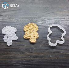 Super Mario Cookie Cutter Cake Fondant Mold Mould Set 2pcs Bros Tool Printed 3D
