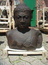 Riesige Buddha Büste Bali Steinfigur Lavastein schwer massiv XL Garten frostfest
