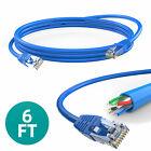 New CAT 6 Ethernet Cable Lan Network CAT6 Internet Modem Blue RJ45 Patch Cord US
