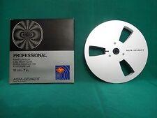 1 x  AGFA-GEVAERT  PROFESSIONAL Leerspulen Alu 18cm -Silber-NOS