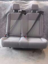 """Ford Transit OEM Seat; Pewter/Grey Cloth; 36"""" Dual Pass;w/ Hardware Universal"""