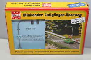 Busch 5916 Blinking Fussgaengerueberweg Gauge H0 Boxed