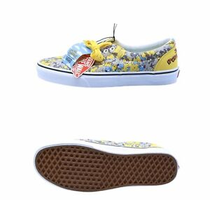 Vans x The Simpsons Mens Itchy and Scratchy Canvas shoes Yellow Size 10.5 NIB