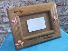 Personalised Wooden Photo Frame Teacher Childminder Nursery Nurse Gift Idea