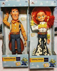 "NIB Disney Parks 16"" Talking Woody & Jessie Toy Story Pull String Figures Dolls"
