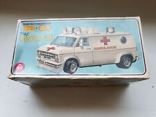 """ALPS .GMC AMBULANCE """"THE RESCUE CAR""""  W/BOX & FULLY WORKING WITH ORIGINAL BOX!"""