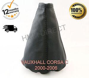 Vauxhall Corsa C 2000-2006 Genuine Leather Gear Stick Gaiter Cover Black St