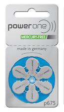 60 Batterie Apparecchi Acustici PowerOne Batteria Apparecchi Acustici Batteria p675