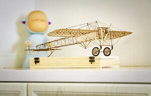 VX14 - DW Bleriot XI 1/23 Scale Static Balsa Model Building Kit 3D Puzzle - New