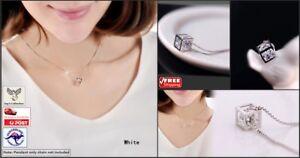 Fashion Magic Cube Silver Crystal Pendant Charm Gift Women [B1H1~B31]