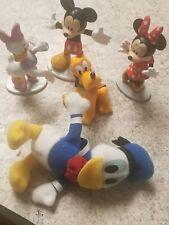 Disney 5 Pc Mini Figure Lot Mickey Minnie Daisy Donald -(Plush) & Pluto