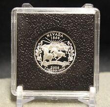 6 Silver Quarter 2x2 Coin Snaplock Capsule Holders QUADRUM Intercept Case 24mm