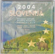 More details for 2004 slovenia trial nine coin euro set in a card pack in near mint condition.