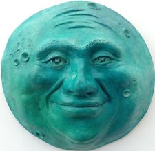 Turquoise Full Moon Sculpture by Claybraven, Unique Color for any Room Decor