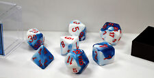 Dungeons & Dragons Fantasy 16mm 7 Piece Dice Set: Gemini Astral Blue/White 26457