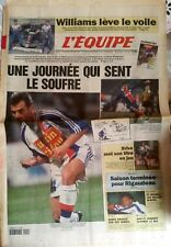 L'Equipe Journal 1-2/2/1997; Williams lève le voile/ Rigaudeau/ Brive/ Escrime