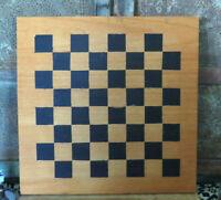 A FINE OLD INLAID CHECKER BOARD Chess GAME BOARD Maple & Ebony NICE!