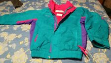 Columbia parka Youth L triple color double zipper radial sleeve  Unisex no tag
