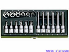 PROXXON Spezial-Steckschlüsselsatz für Vielzahnschrauben XZN, 18-tlg. No 23296