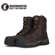 ROCKROOSTER Men's Work Boots Composite Toe Waterproof Puncture Resistant Safety