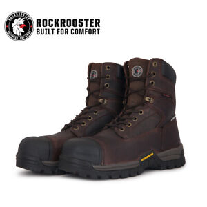 ROCKROOSTER Men's Work Boots Composite Toe Waterproof Puncture Resistant Safety
