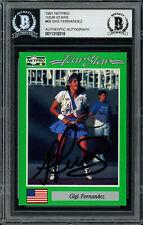 Gigi Fernandez Autographed Signed 1991 NetPro Tour Star Card Beckett 11318318