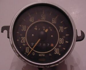 Vintage VW Volkswagen Bug Beetle Ghia Type 1 Speedometer Fuel Gas Gauge