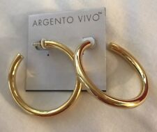 """Argento Vivo Thick Hoop Earrings NEW Gold Color 2.25"""""""
