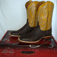 10.5 D Lucchese 1883 ALAN men's Brown Western Cowboy Motorcycle Boots M2662 $335