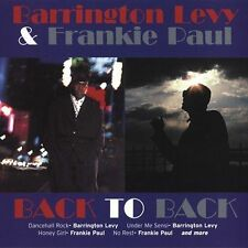 Back to Back by Barrington Levy & Frankie Paul (CD, 1999, BMG) SEALED / FREE S&H