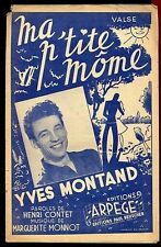 PARTITION ANCIENNE  MA PTITE MOME YVES MONTAND