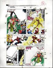 1990 Original Avengers color guide art: Iron Man/Spider-man/Captain America/Thor
