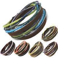 axy® Leder Armband Wickelarmband Lederarmband Surferarmband Leather Bracelet