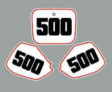 Honda CR500 Number Plate Graphics 91-02 Cr 500 Cr500R 500R sticker decal White