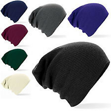 SLOUCH BEANIE HAT OVERSIZED - FIVE COLOURS: NAVY, BLACK, OFF-WHITE, GREY, PURPLE