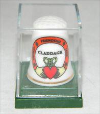 Thimble Fine China Irish Claddagh Symbol New Collectible Plastic Case 7406