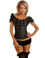 CORSE CORSETS BUSTIER BLACK SLEEVES SHORT SIZE L (40) TOP MODE FASHION 8336B