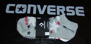 CONVERSE Flat Knit No Show Women Socks 6 Pair Pack PATRIOTIC (Women 4-10) $14