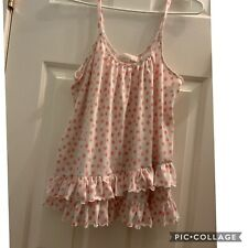 Oscar De La Renta Pink Label Pajama Ruffle Tank Sleep Wear
