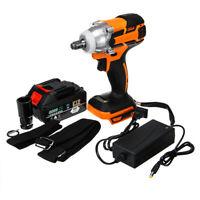 540Nm 1/2'' Cordless Brushless Impact Wrench 28000mAh Battery Charger Case US🔥