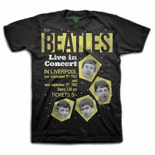 Beatles - 1962 Live in concert - Mens T-shirt Black - NEW Official  Merchandise